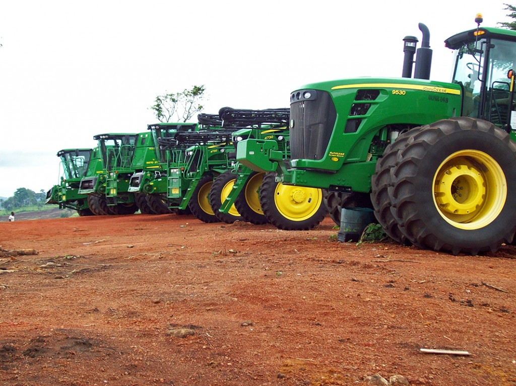 John Deere machines in Africa