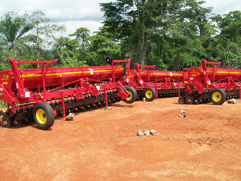 Sunflower grain drills in Africa